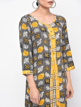A-line printed dress - 15961867 - Standard Image - 4
