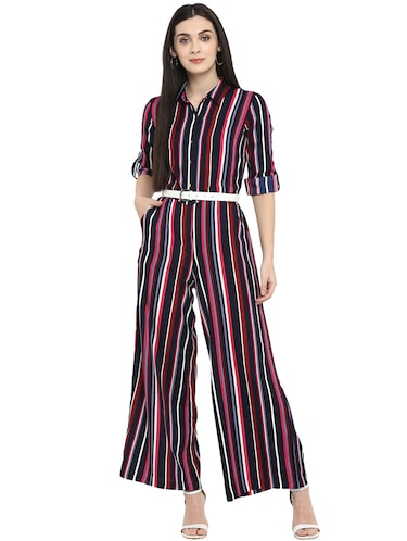cc268480882 Buy Floral Print Short Sleeves Poly-crepe Jumpsuit for Women from Aardee  for ₹1299 at 0% off   2019 Limeroad.com