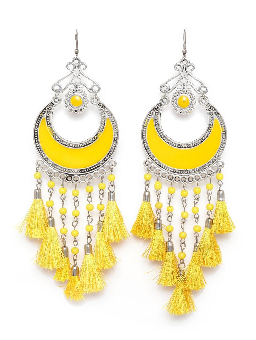 Yellow Br Chandballi Earring