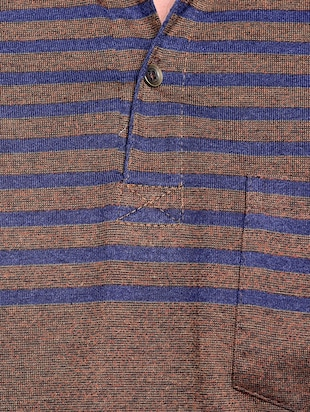 brown striped pocket tshirt - 15972717 - Standard Image - 4