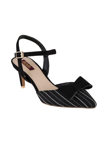 black synthetic back strap sandals - 15973383 - Standard Image - 1