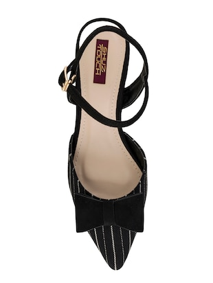 black synthetic back strap sandals - 15973383 - Standard Image - 4