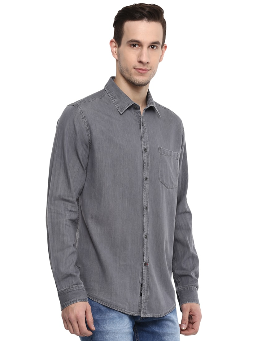 10b2c32ca2 Buy Grey Solid Casual Shirt by Red Chief - Online shopping for Casual Shirts  in India