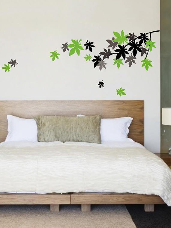 buy falling leaves wall stickers living, room bedroom wall stickers