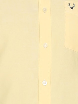yellow solid casual shirt - 15981971 - Standard Image - 4