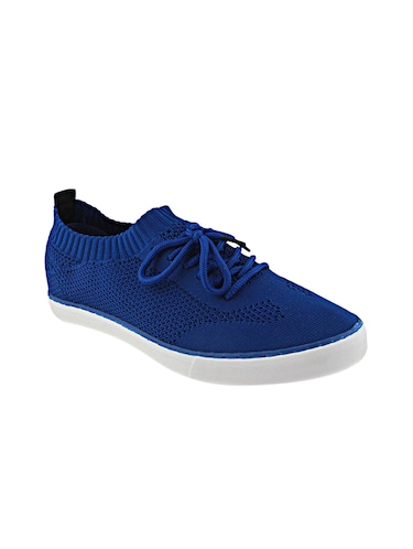blue Fabric lace up sneakers - 15987824 - Standard Image - 1