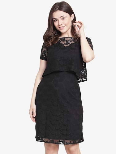 Lace Dresses Buy Black Lace Dress Patterns Online In India