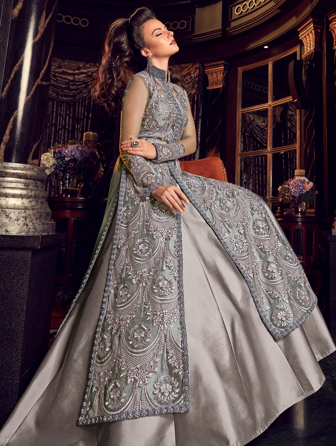 8bb1cbc462 Buy Embroidered Layered Semi-stitched Suit for Women from The Fashion  Attire for ₹7911 at 33% off | 2019 Limeroad.com