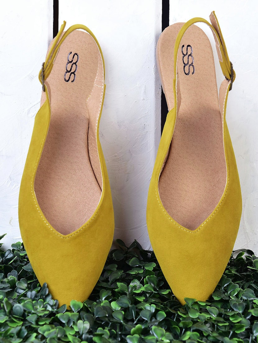 Buy online Yellow Back Strap Sandals