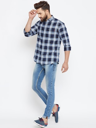 blue denim washed jeans - 16005965 - Standard Image - 4