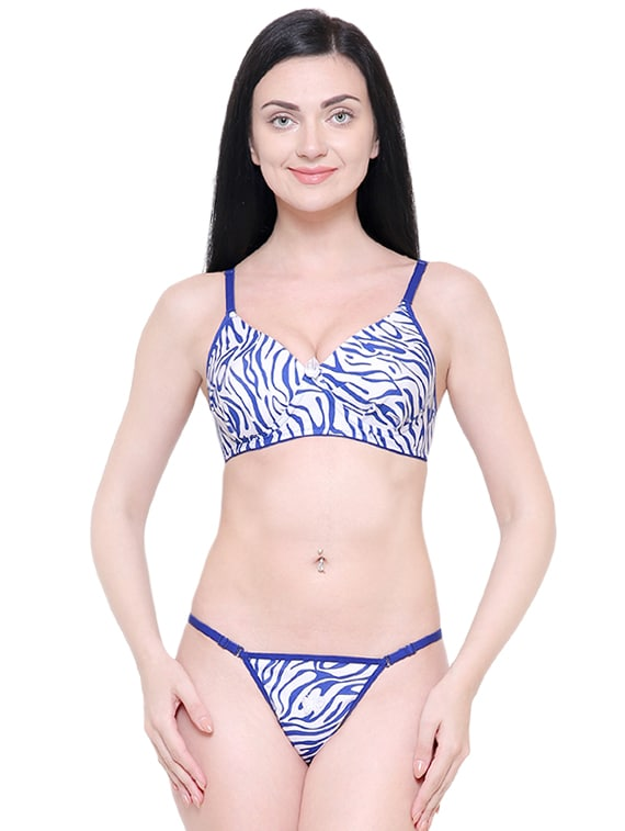 be0c0e6397d Buy Set Of 2 Animal Print Bra And Panty Set for Women from Pinkbox for ₹664  at 17% off