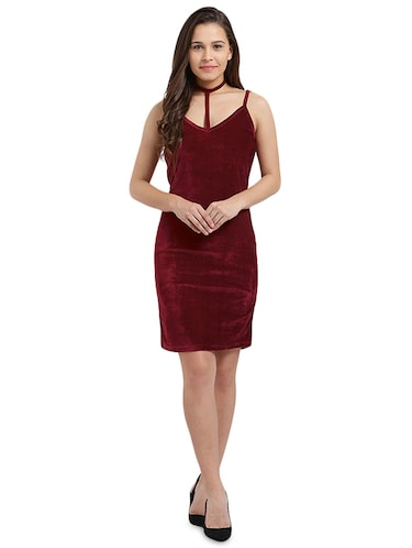 choker neck sheath dress - 16026638 - Standard Image - 1