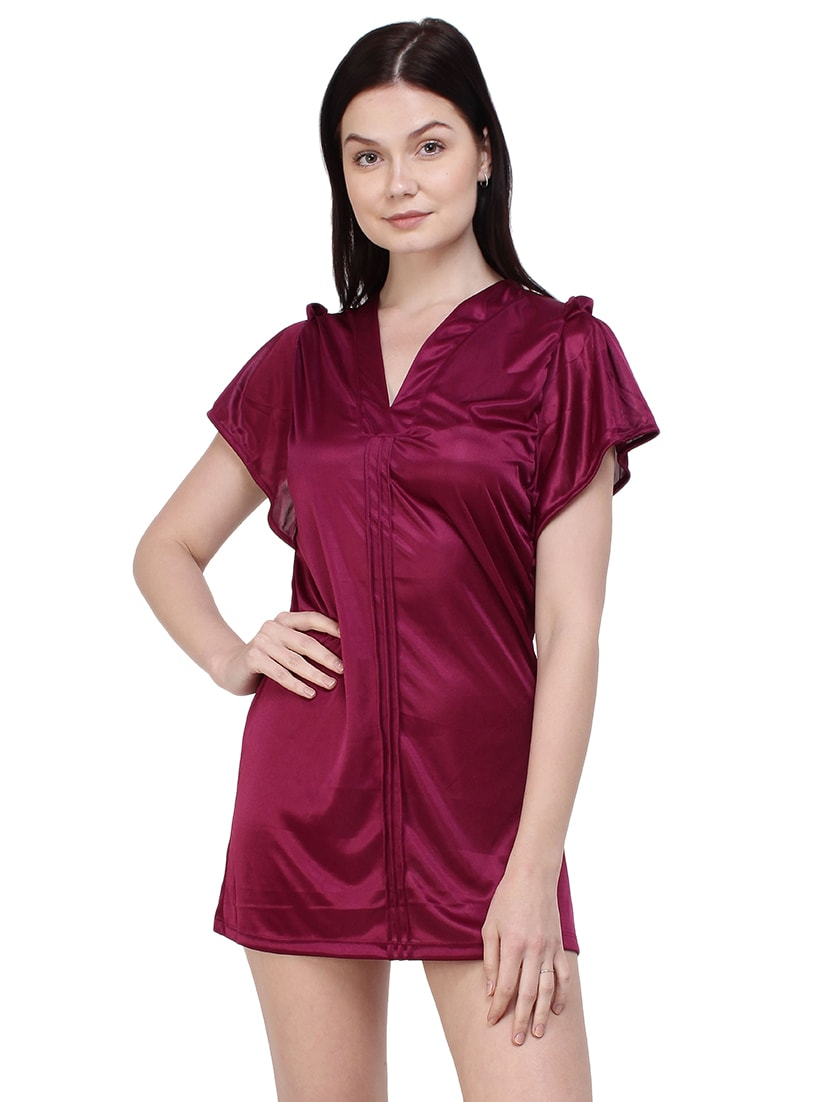 dfe57677ffb6 Buy Burgundy Sleepwear Robe And Bikini Set for Women from You Forever for  ₹645 at 28% off