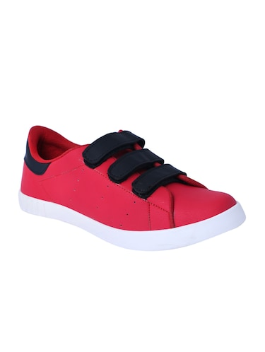 red leatherette slip on sneakers - 16046825 - Standard Image - 1