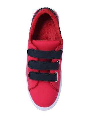 red leatherette slip on sneakers - 16046825 - Standard Image - 4