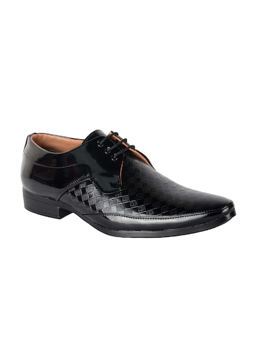 black Patent Leather lace-up derbys - 16049602 - Standard Image - 1