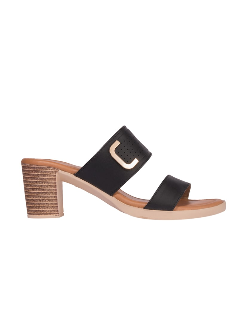 71ff38b37 Buy Black Synthetic Slip On Sandals for Women from Khadims for ₹629 at 37%  off