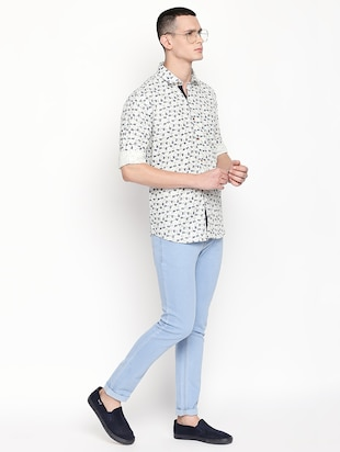 white printed casual shirt - 16059167 - Standard Image - 4