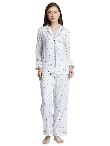 attractive & durable cheap for sale big discount sale Buy White Satin Nightwear Pajama Set for Women from Bwitch ...