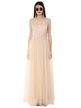 sequined flared gown - 16078767 - Standard Image - 4