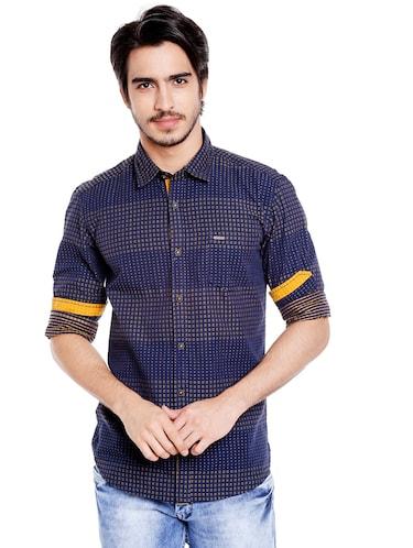 31be49b6184b Light Blue Cotton Casual Shirt
