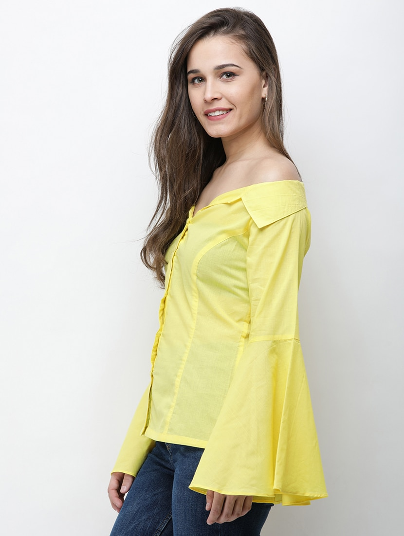 105b59586a3 Buy Bell Sleeved Off Shoulder Shirt for Women from Cation for ₹720 at 52%  off | 2019 Limeroad.com