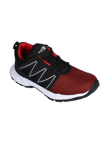 red fabric sport shoes - 16097313 - Standard Image - 1