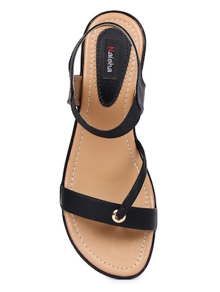 black back strap sandals - 16098517 - Standard Image - 4