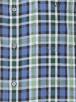 blue checkered casual shirt - 16106963 - Standard Image - 4