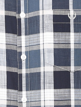 blue checkered casual shirt - 16106972 - Standard Image - 4