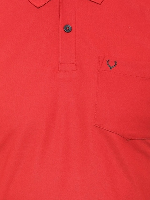 red solid polo t-shirt  - 16107659 - Standard Image - 4