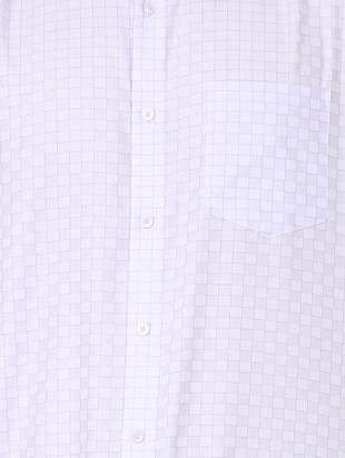 white checkered formal shirt - 16107747 - Standard Image - 4