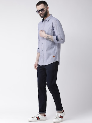 blue printed casual shirt - 16109483 - Standard Image - 4