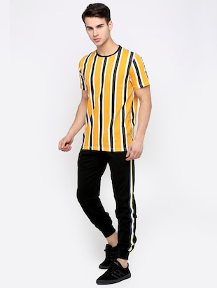 yellow striped t-shirt - 16139249 - Standard Image - 4