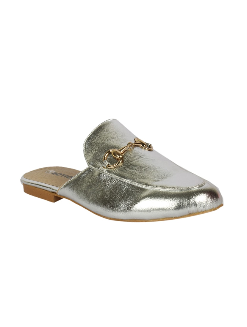 Buy online Silver Slip On Mules from