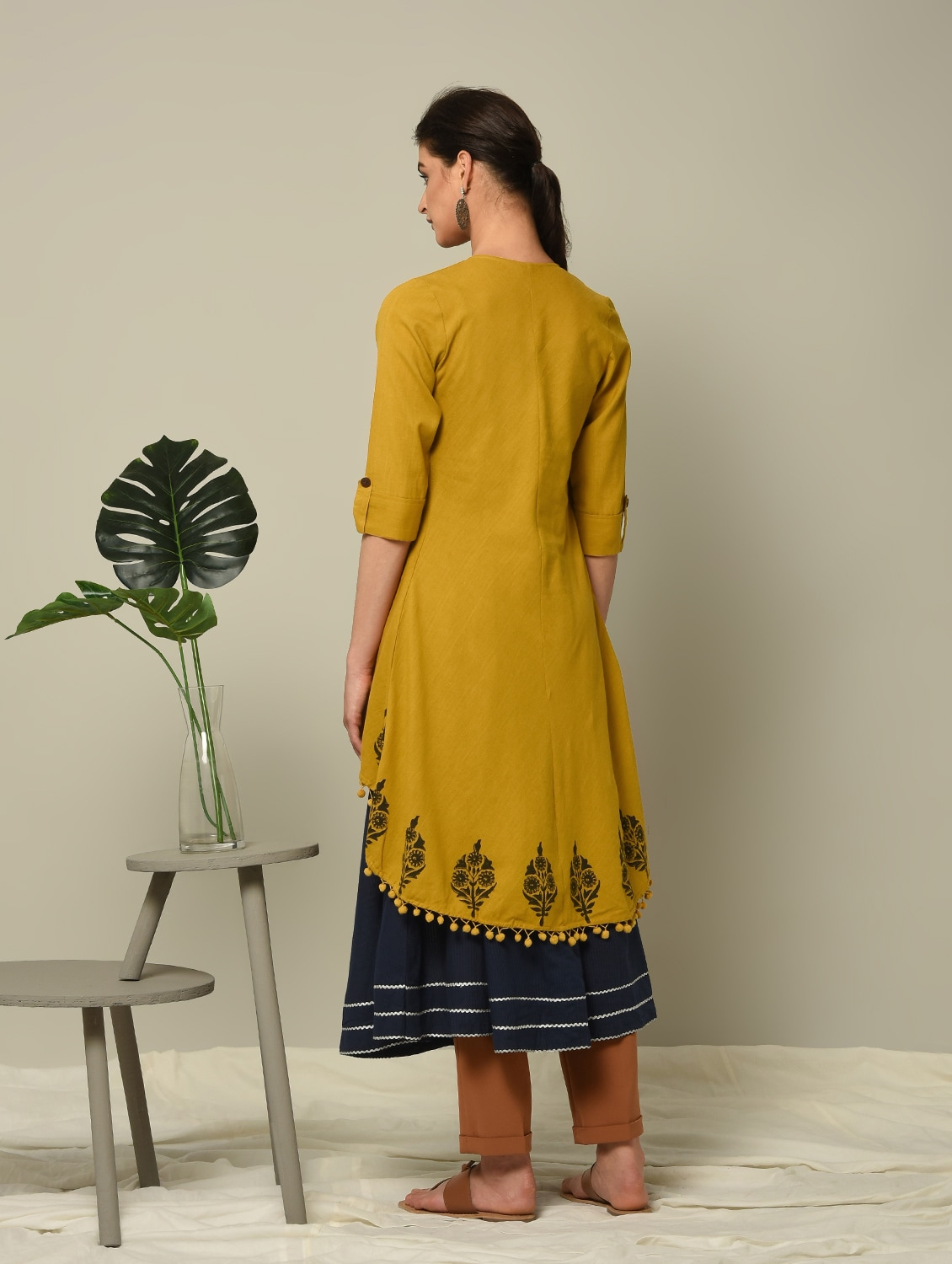 1f549c43d4a Buy Block Printed Layered Kurta for Women from Ibadat for ₹1490 at 0% off |  2019 Limeroad.com