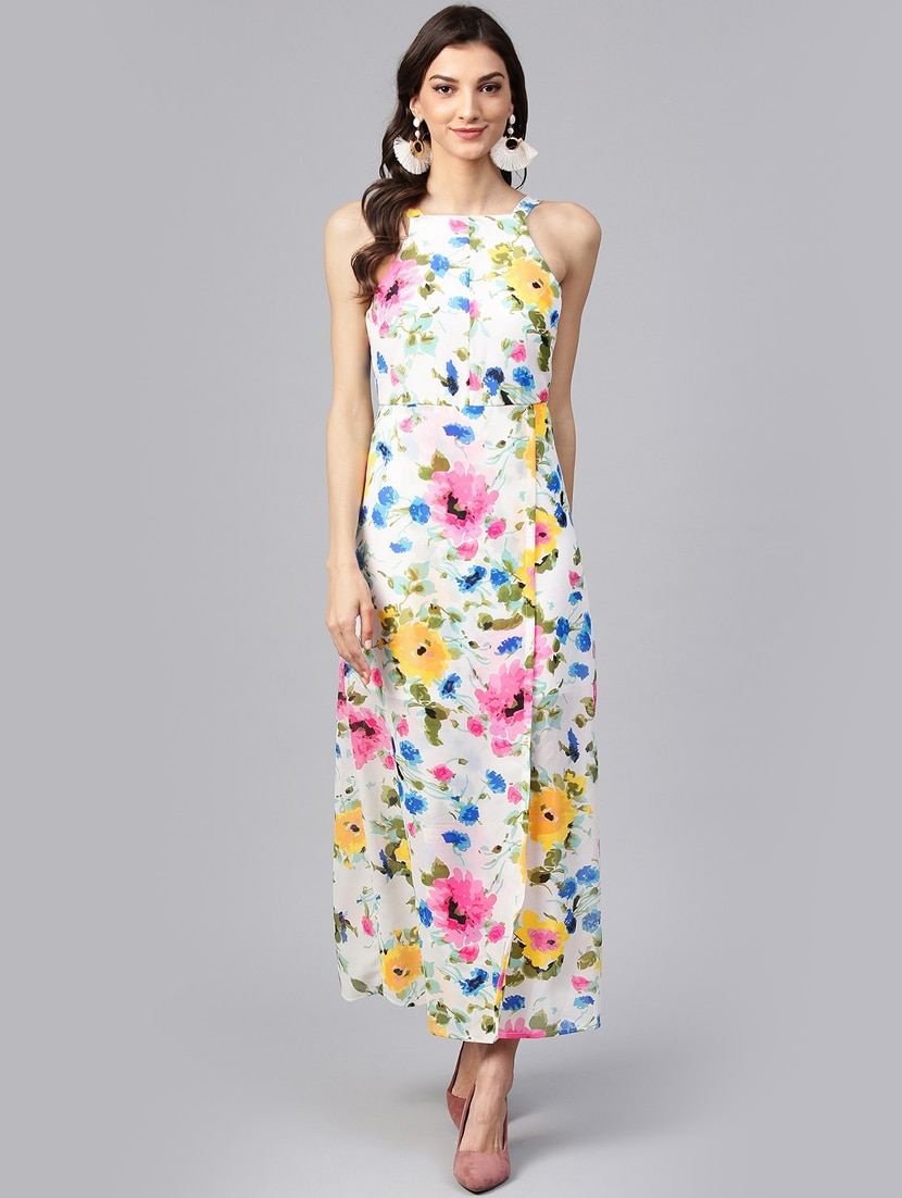f50ebeeceb9482 Buy Printed Layered Maxi Dress for Women from Zima Leto for ₹1599 at 0% off