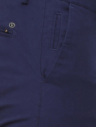 blue cotton chinos - 16174437 - Standard Image - 4