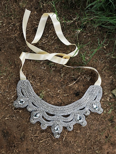 Buy confluence crystals from swarovski silver necklace and