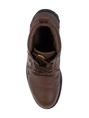 brown leather lace-up derbys - 16187593 - Standard Image - 4