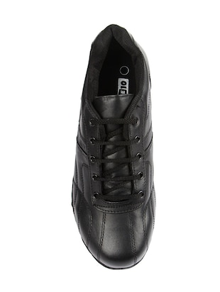black leather sport shoes - 16191322 - Standard Image - 4