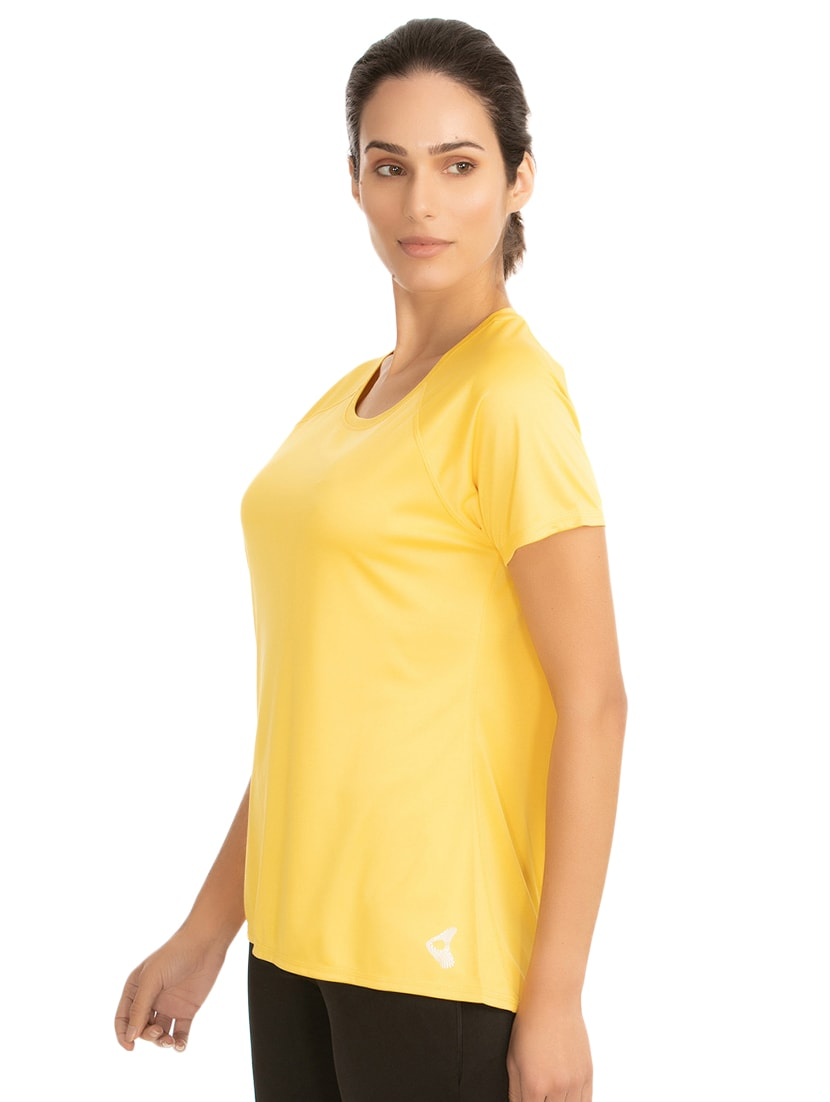 8063918d2854fc Buy Raglan Sleeved Solid Tee for Women from Zelocity By Zivame for ₹447 at  50% off | 2019 Limeroad.com