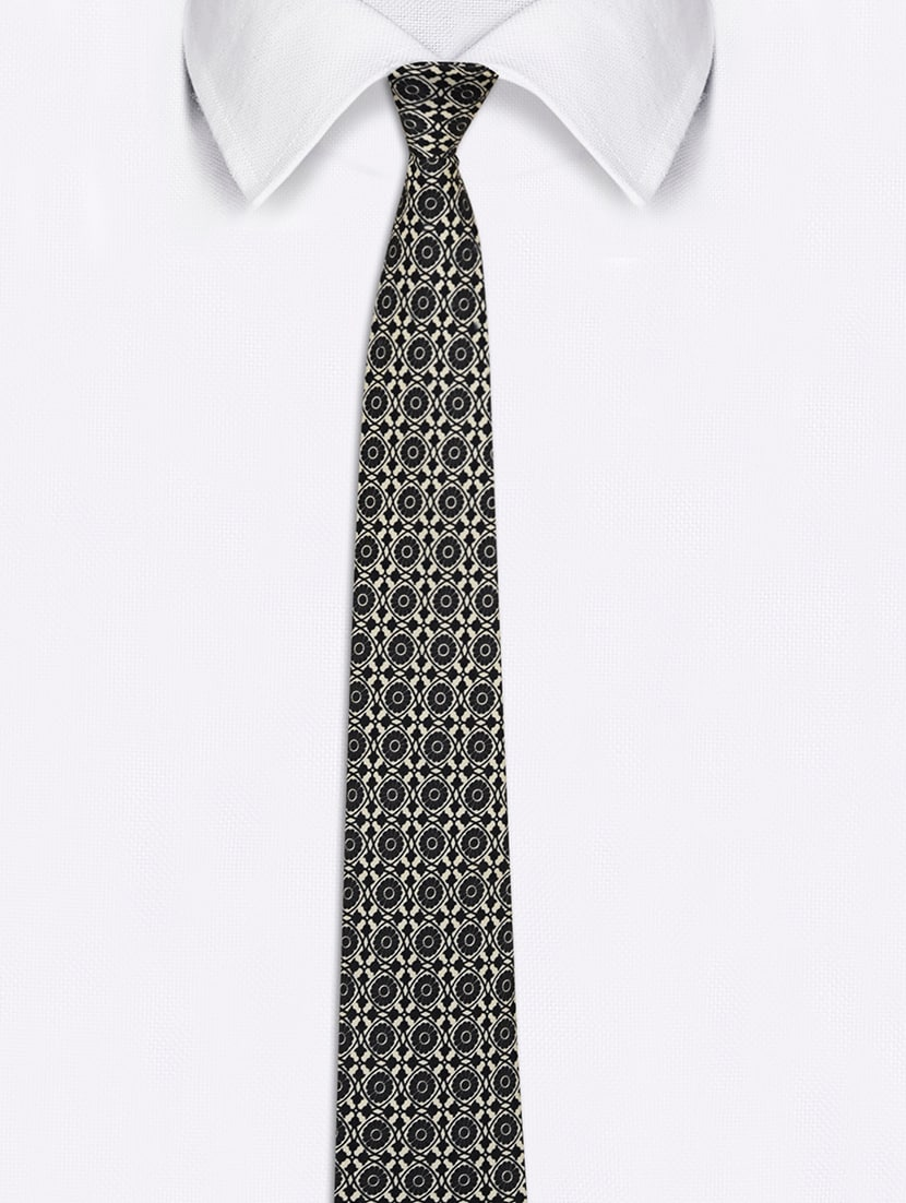 1dd97aeb777f Buy Black & White Satin Tie for Men from Chokore for ₹807 at 55% off | 2019  Limeroad.com