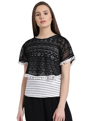 d1adaf52b Buy black lace tops for women western in India   Limeroad