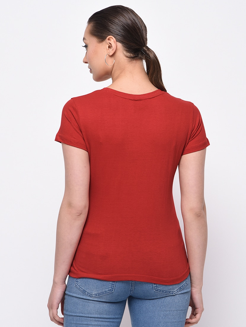 c45efa301d00 Buy Short Sleeved Graphic Print Tee for Women from Theheyuzehaat for ₹600  at 40% off | 2019 Limeroad.com