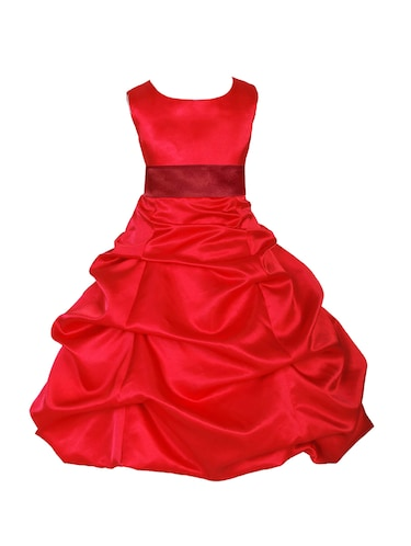 red polyester frock - 16221632 - Standard Image - 1