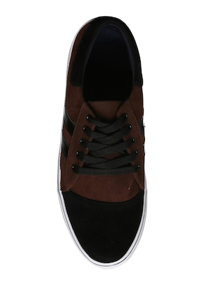 brown velvet lace up sneakers - 16224357 - Standard Image - 4