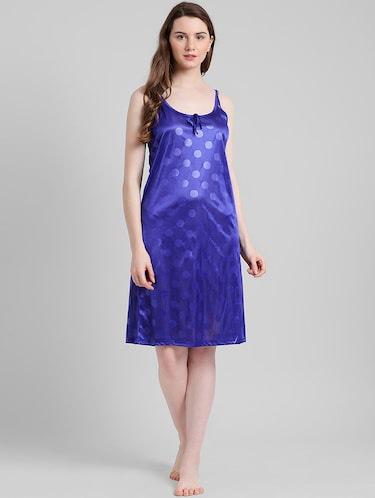 2fc8da2715 Red And Navy Blue Satin Two Piece Nighty