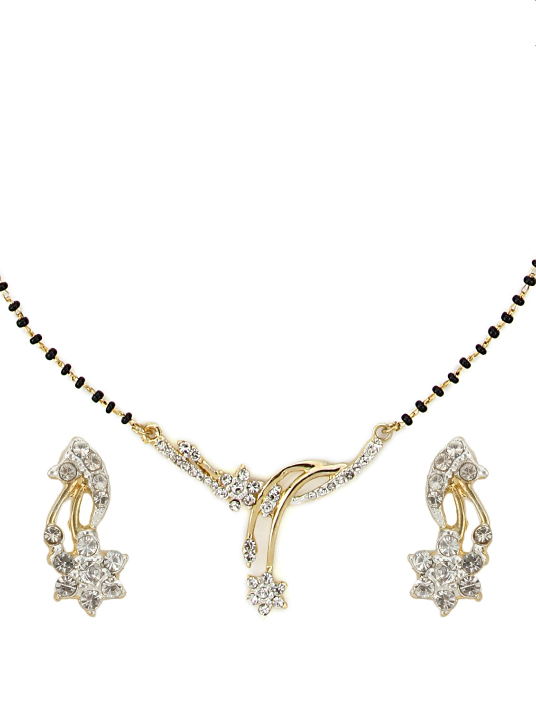 Designer Gold Diamond Mangalsutra Set - Oleva