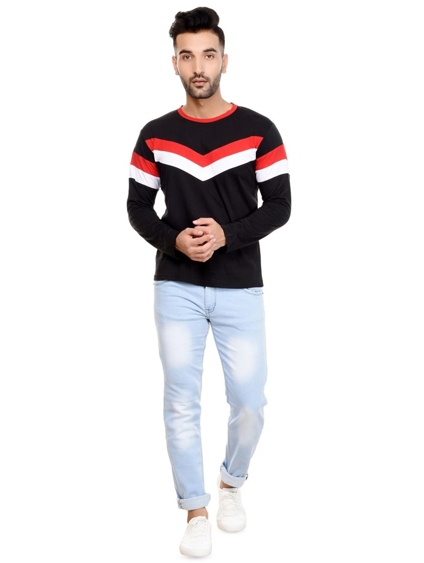 c18a78914 Buy Black Cut & Sew T-shirt for Men from Lifeidea for ₹460 at 67 ...